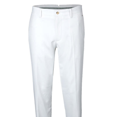 J.LINDEBERG MENS M ELLOTT TIGHT MICRO STRETCH GOLF TROUSERS - WHITE  - 38X34