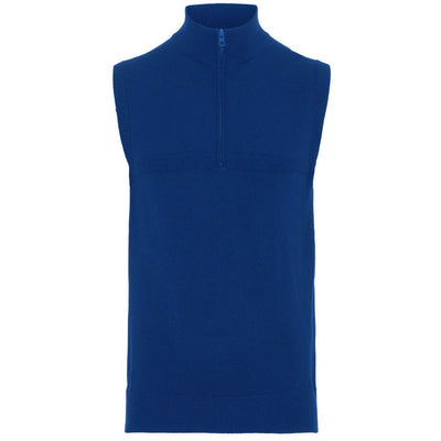 J.LINDEBERG FASHION MENS M EMMET TOUR MERINO VEST - WORK BLUE - SZ Medium