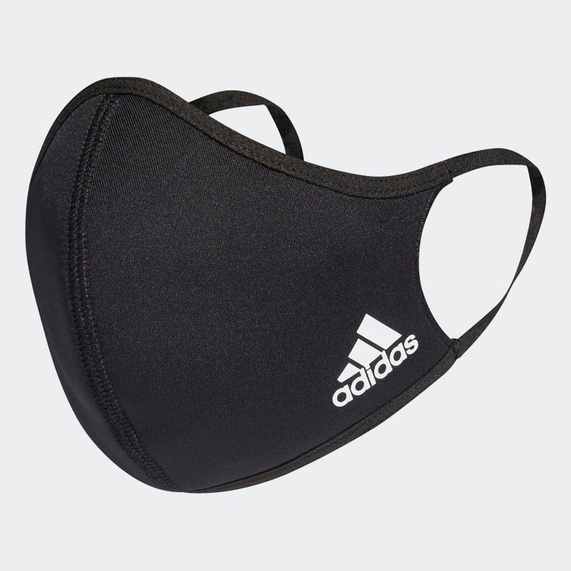 ADIDAS FACE COVERS M/L 3-PAC - BLACK (Pre Order)