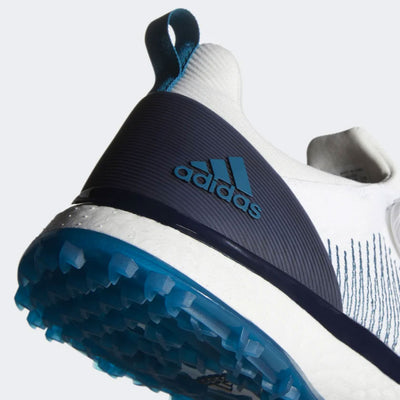 ADIDAS MEN'S GOLF FORGEFIBER BOA SHOES EURO EDITION - CLOUD WHITE / LEGEND INK / ACTIVE TEAL