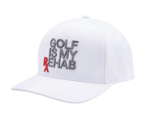 G/FORE MENS 'GOLF IS MY REHAB' SNAPBACK - SNOW