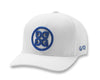 G/FORE MENS CIRCLE G'S TRUCKER SNAP BACK - SNOW