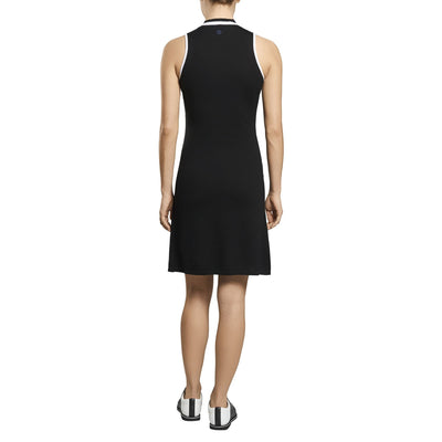 G/FORE WOMENS SHORT SLEEVE MOCK DRESS - ONYX - SZ SMALL