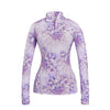 G/FORE WOMEN'S FLORAL TECH QUARTER ZIP - VIOLET - SZ SMALL