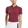 G/FORE WOMEN'S NYLON POLO - CABERNET - SZ SMALL