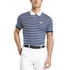 G/FORE MENS WIDE STRIPE POLO - TWILIGHT/SNOW