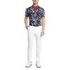 G/FORE MENS ROSEBUD POLO - TWILIGHT