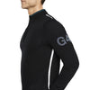 G/FORE MENS TIPPED QUARTER ZIP CASHMERE SWEATER - ONYX - SZ MEDIUM