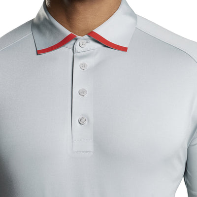 G/FORE MENS KILLER MAPPED POLO - PEARL - SZ M