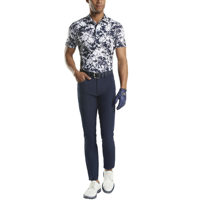 G/FORE MENS ABSTRACT FLORAL POLO- TWILIGHT - SZ M