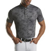 G/FORE MENS ICON CAMO POLO - CHARCOAL - SZ M