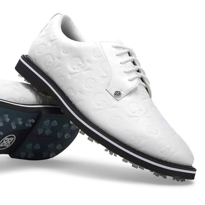 G/FORE MEN'S EMBOSSED GALLIVANTER GOLF SHOE - SNOW /ONYX