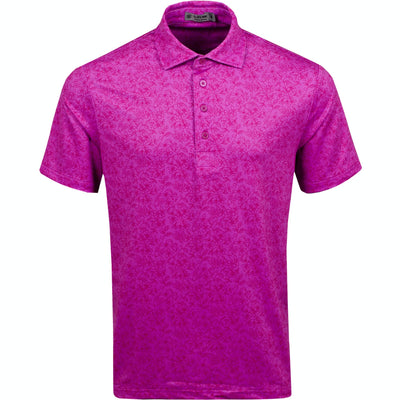 G/FORE MENS VINES POLO - BOUGAINVILLEA