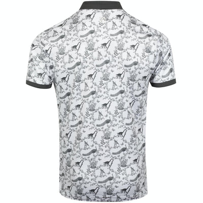 G/FORE MENS TOILE POLO - SNOW