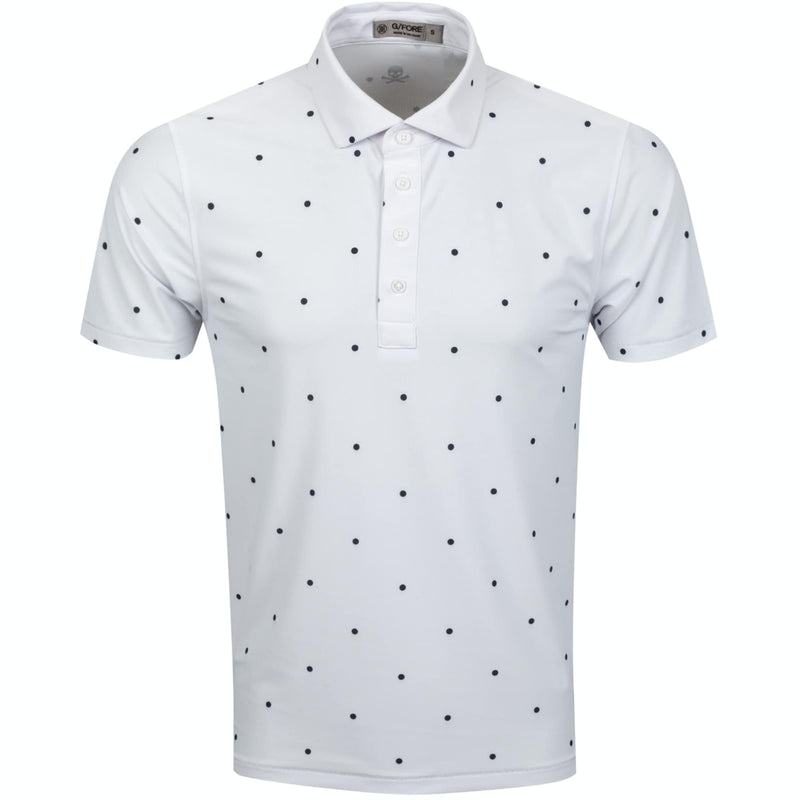 G/FORE MENS DOTS POLO -SNOW