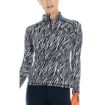 G/FORE WOMENS ZEBRA 1ST LAYER PULLOVER  - SZ SMALL