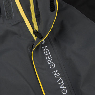 Galvin Green Mens ADDISON Gore-Tex Waterproof Golf Jacket - BLACK/GREY