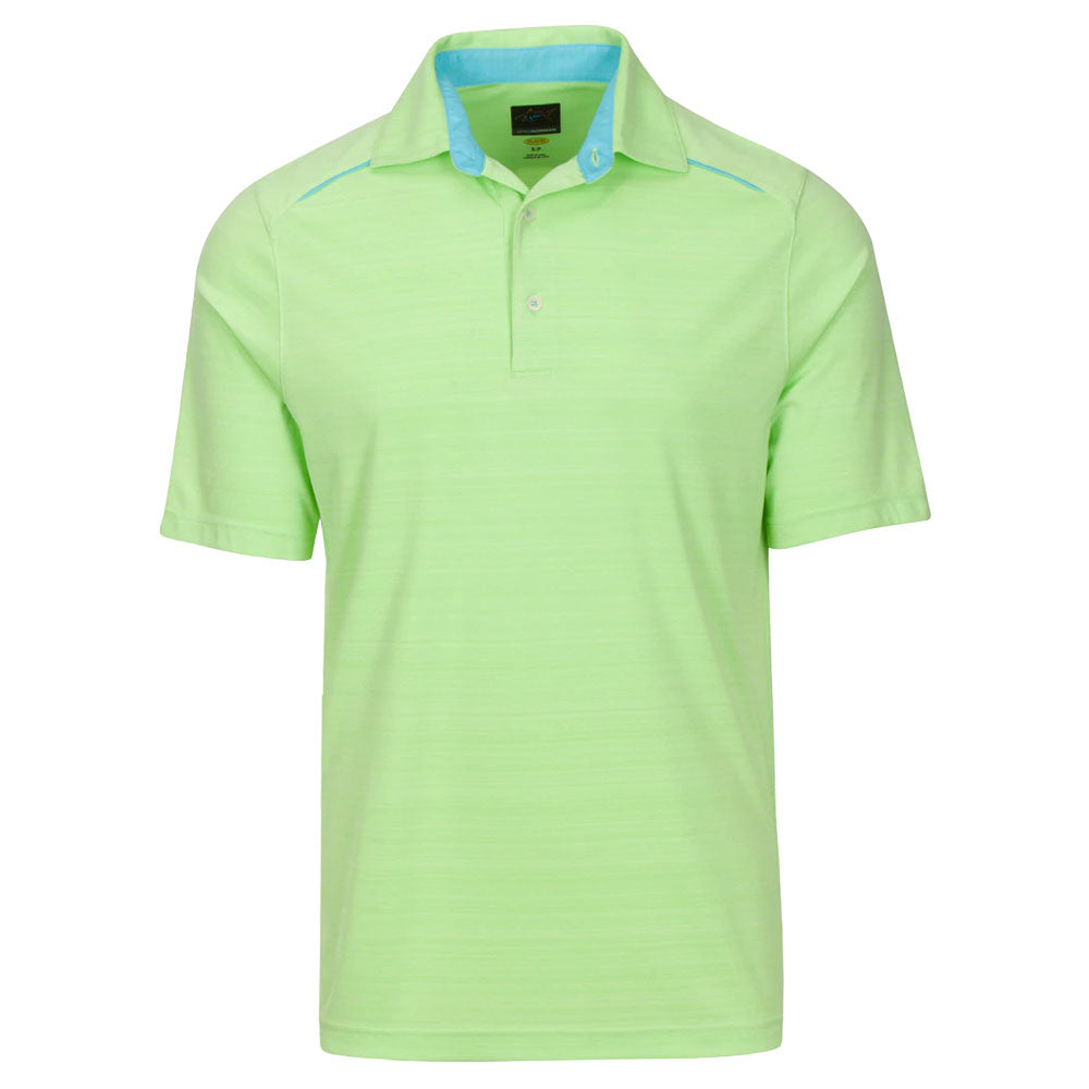 Greg Norman Mens Weatherknit Blade Polo - Axis Green