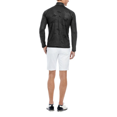 G/FORE MENS CAMO EMBOSSED MID LAYER PULLOVER - BLACK INK