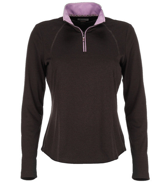 Greg Norman Ladies Contrast Trim 1/2 Zip Pullovers