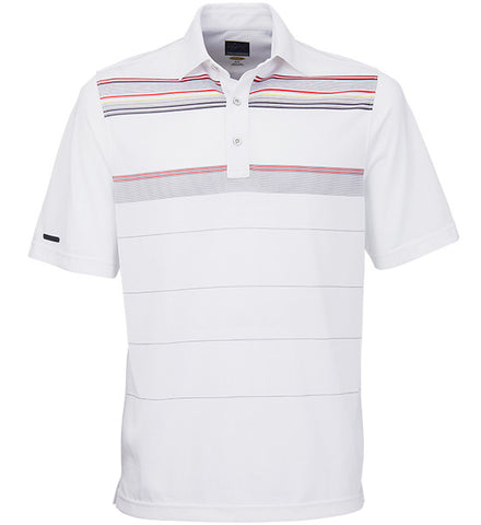 Greg Norman Engineered Stripe Polos - White