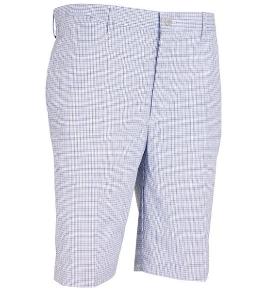 Greg Norman Flat Front Mini-Check Shorts