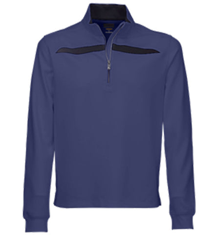 Greg Norman Fashion 1/4 Zip Mock - Blue