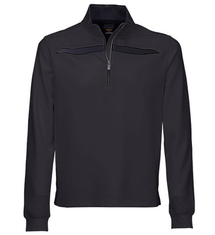 Greg Norman Fashion 1/4 Zip Mock - Carbon Grey