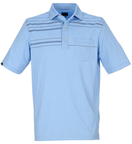 Greg Norman Mini Print Pocket Polo
