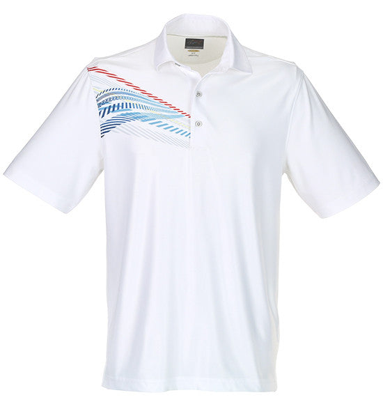 Greg Norman Sublimation Print Polos - White