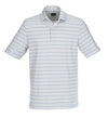 Greg Norman Men's - Stripe WeatherKnit Polos - White