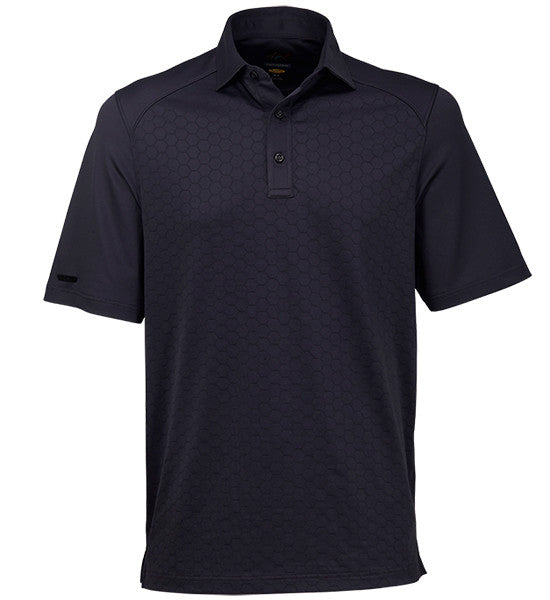 Greg Norman Texture Solid Polos - Carbon Grey
