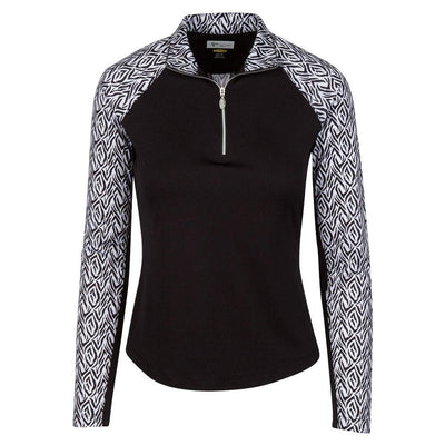 Greg Norman Women's Solar XP 1/4-Zip Bengal Long Sleeve Polo