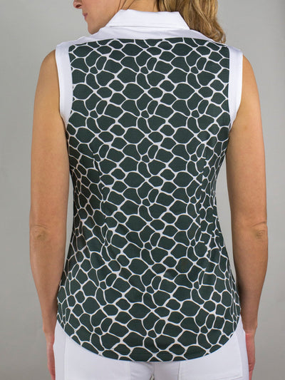 JoFit Gracie Sleeveless Top- Giraffe Print