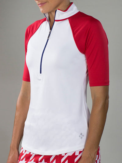 JoFit Maraschino Mock- White