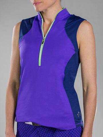 JoFit Magnum Sleeveless Polo - New Violet