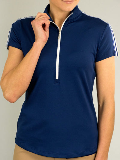 JoFit Amped Polo- Blue Depth