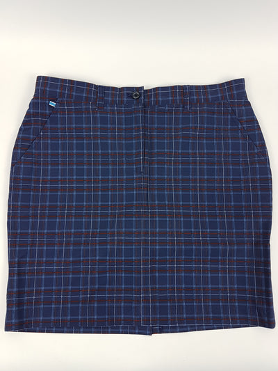J.L Allie Skirt - Checked Navy/Purple