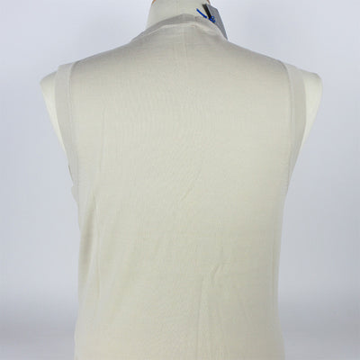 J.L Culverton Light Merino Sweater Vest - Eggshell