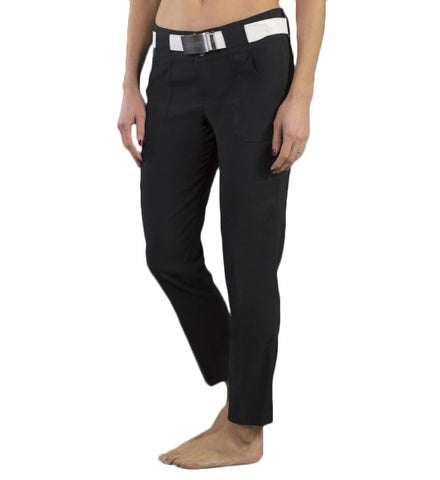 JoFit Belted Cropped Pants - Black