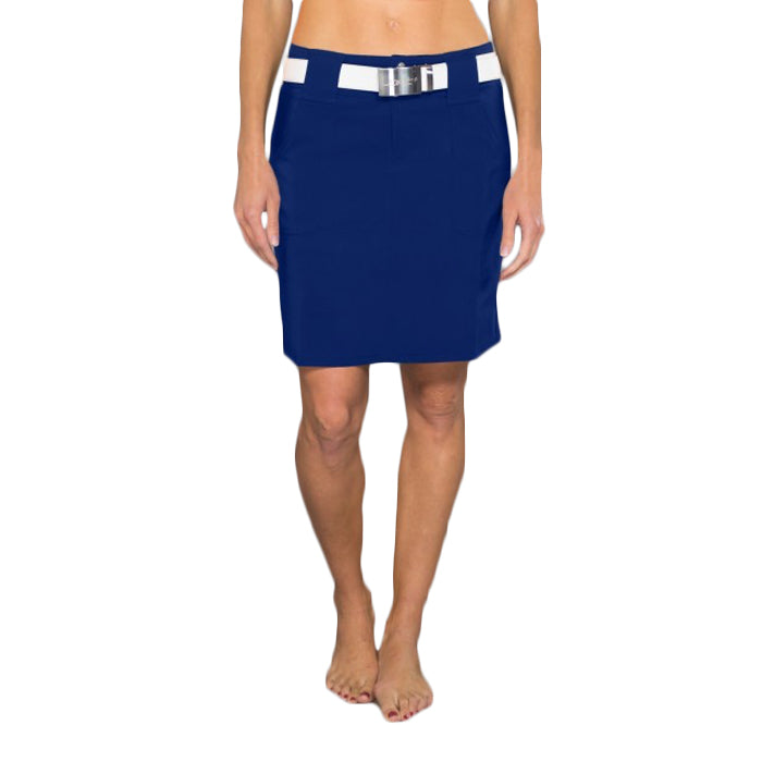 JoFit Belted Golf Skorts - Blue Depth