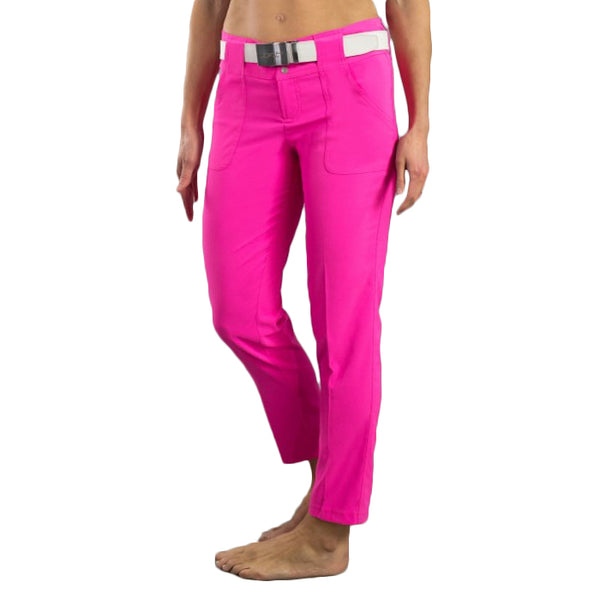 JoFit Belted Crop Golf Pant - Fluorescent Pink
