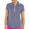 JoFit Tipped Polo - Diamond Print