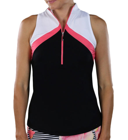 JoFit With a Twist Mock - Black