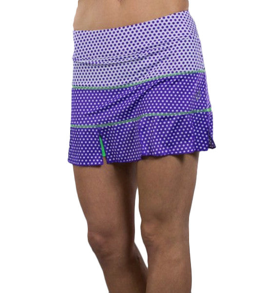JoFit Panel Skorts - White Swiss Dot