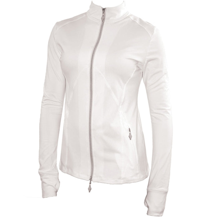 JoFit Tipped Thumbs Up Jacket - White