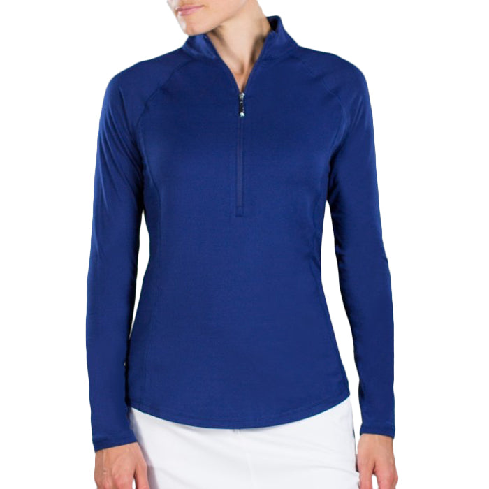 JoFit Brushed Long Sleeve Mock - Blue Depth