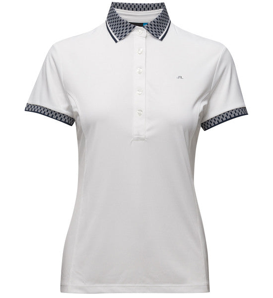 J.L Ada Ladies Polo - White