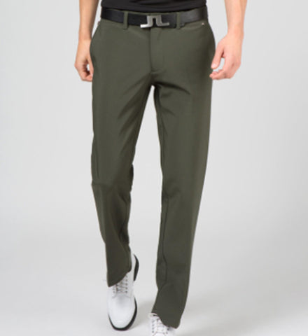 J.L Ellott Reg Fit Micro Stretch Pants - Dark Green