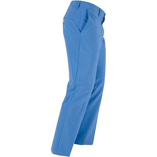 J.L Ellott Reg Fit Micro Stretch Pants - Blue Dusty